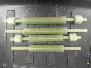 Structural Fiberglass Rod, Threaded Rod, Nuts