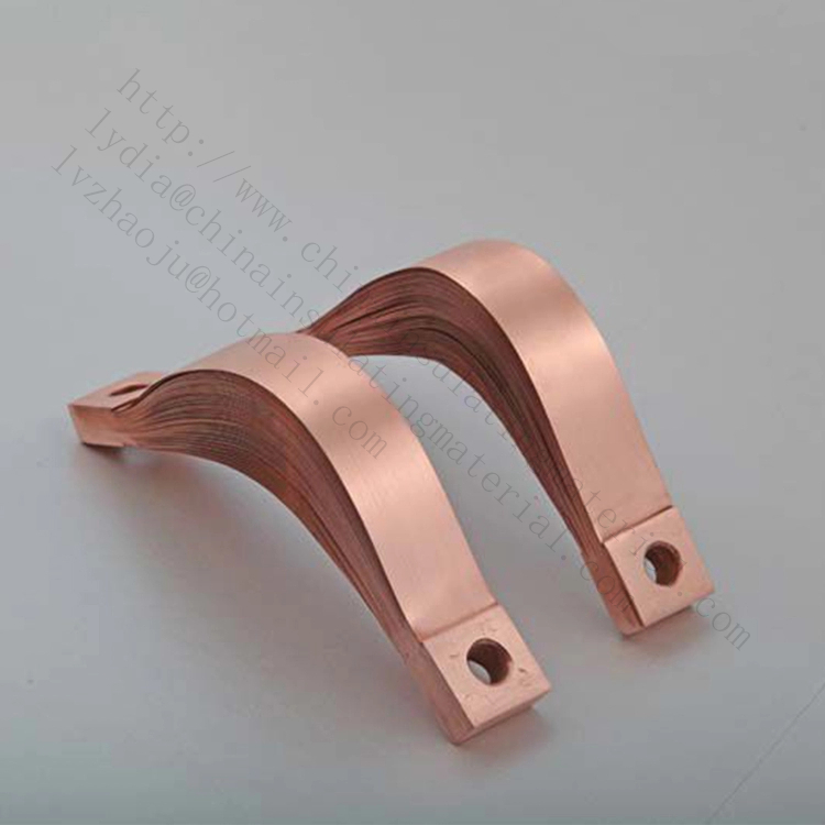 copper flexible busbar soft Connectors For Electrical Transformers Parts