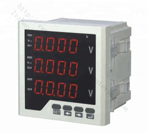 AC digital three phase voltage meter voltmeter